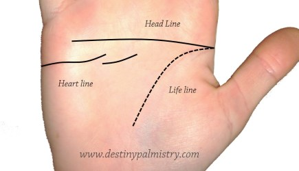 missing heart line, only head line on palm, no heart line