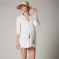 Pleated Maternity Swim Cover-up