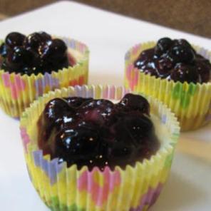 Mini Blueberry-Lemon Cheesecakes