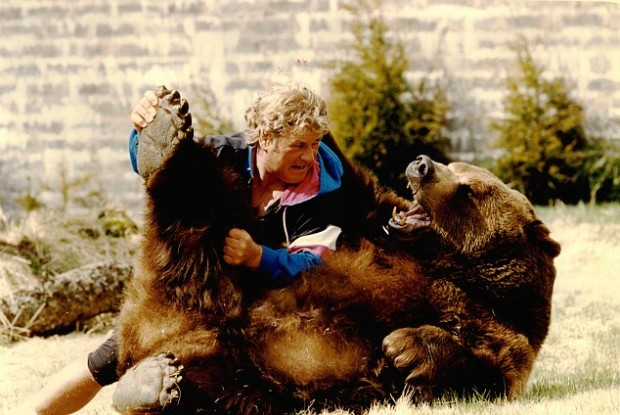 Hercules the Grizzly Bear owned by Andy Robin and wife Maggie Robin European Brown Bear