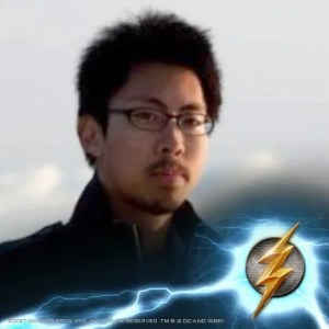 picture of the author with the flash logo on the bottom