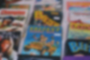 blurred comic book background