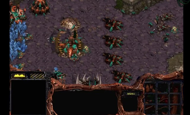 zerg base from starcraft in regular quality