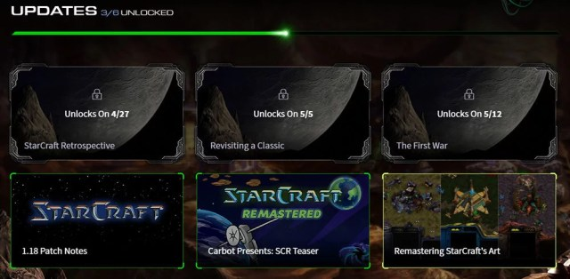 screenshot showing 3 more upcoming updates from blizzard