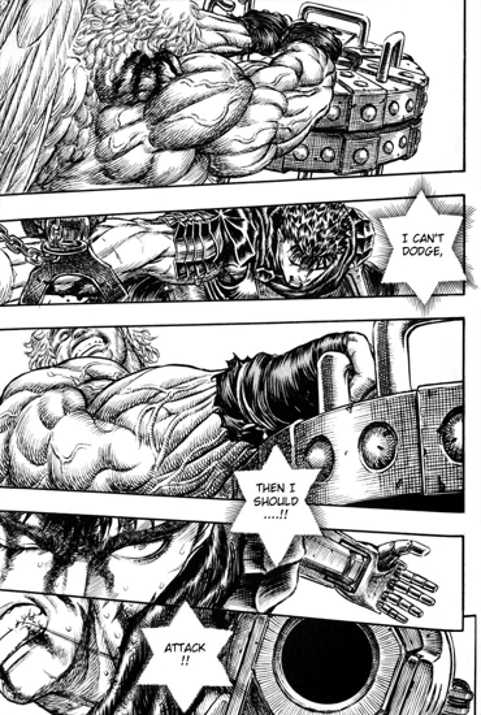 guts taking the hit to counterattack