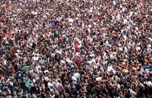 big crowd of people