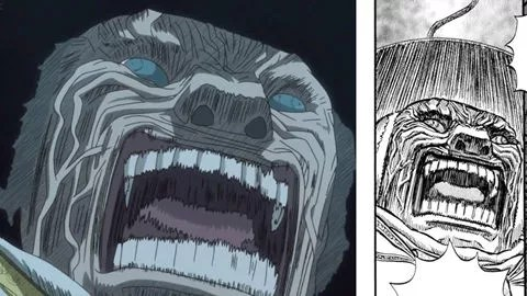 mozgus' face anime vs manga comparison