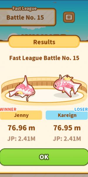League battle results