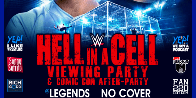 hell in a cell viewing party banner