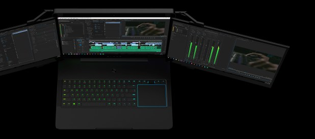 Project Valerie - L'incredibile portatile Razer dotato di triplo monitor