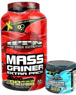 COMBO HTN: Mass Gainer Extra Pack + Creatina Monohidrato