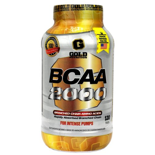 GOLD NUTRITION BCAA 2000 LADO 1