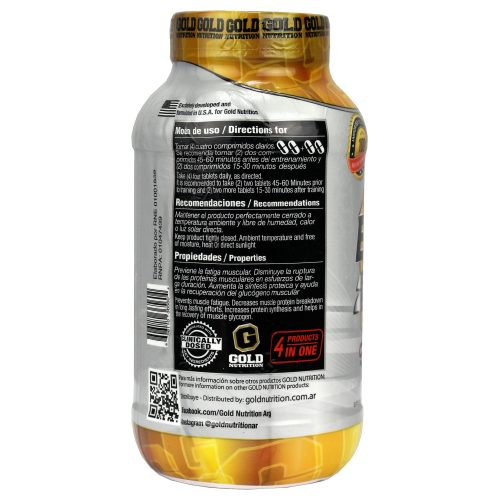 GOLD NUTRITION BCAA 2000 LADO 2