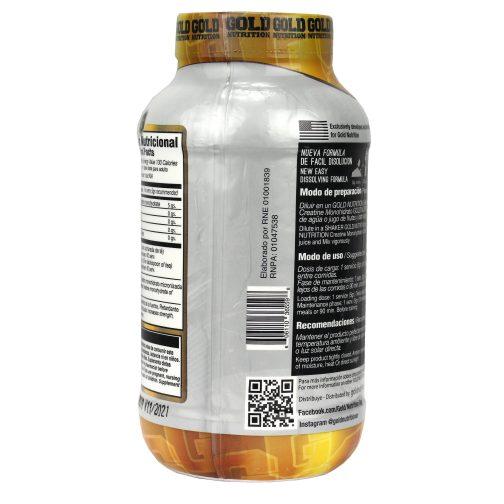 GOLD NUTRITION CREATINE MONOHYDRATE LADO 3