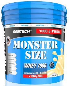 GENTECH Whey Monster Size 7900 (4 kg + 1kg de regalo)