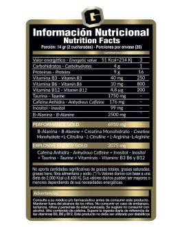 GOLD NUTRITION Pre Work Gold (280 Grs) – Mango