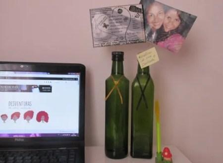 DIY Porta retrato de garrafa