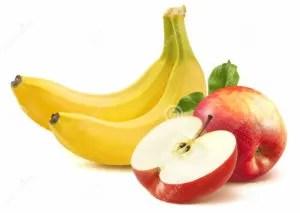 banana-e-maçã-no-fundo-branco-46552097