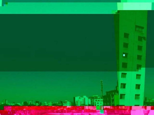 glitched landscape s - pinheiros