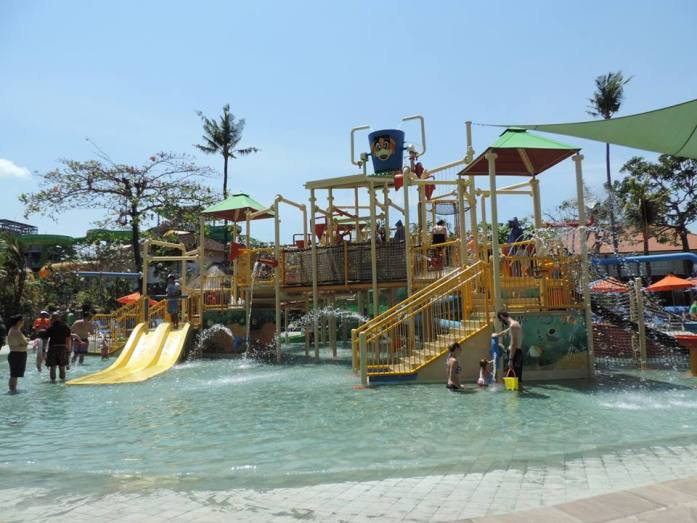 La zone pour les enfants en bas âge, Funtastic, Waterbom Bali.