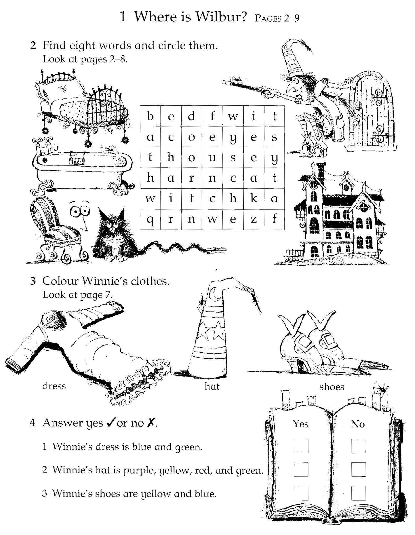 Fuentes English Corner Winnie The Witch Activity Sheets