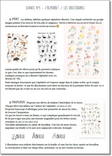 Alphabet Et Ordre Alphabetique Ce1