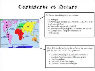 Continents et océans