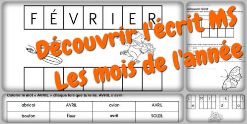 Coloriage Avril Ms.Decouvrir L Ecrit Les Mois De L Annee Ms La Maitresse A Des