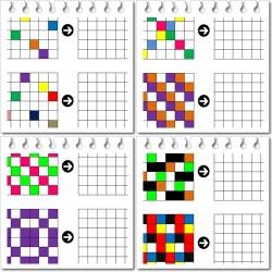quadrillage montage couleurs