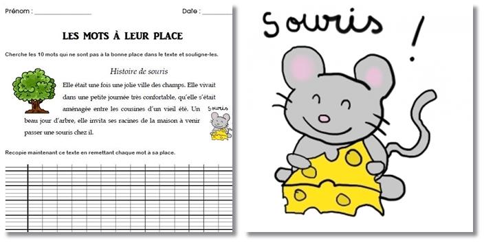 Jeux d'écriture – Inversion de mots – Remettre les mots à leur place CE2
