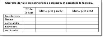 Le dictionnaire - CE1/CE2