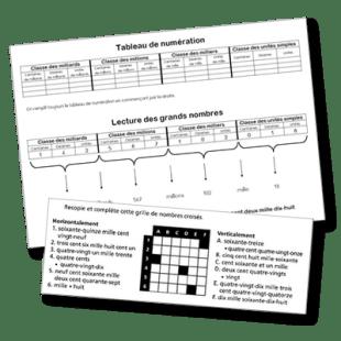 lecture de gds nombres et nombres croisés