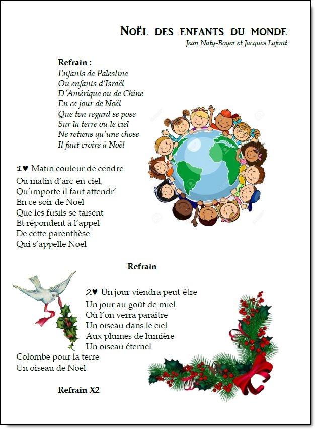 Chant – Noël des enfants du monde