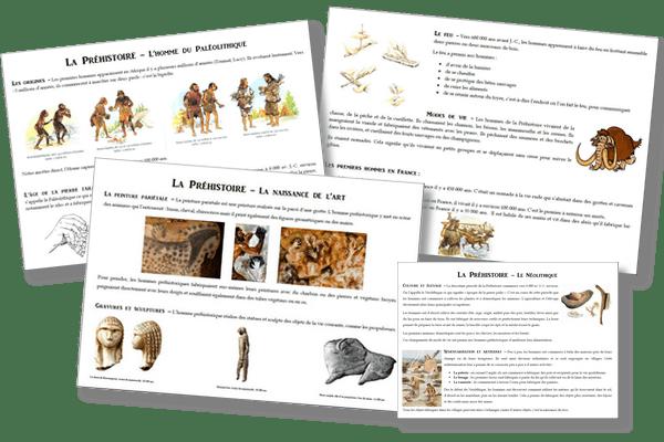 La préhistoire - Traces écrites et évaluation CE2