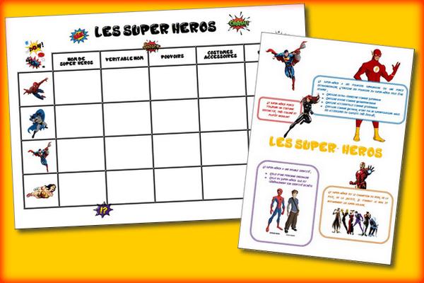 Les super-héros – Littérature CM1/CM2