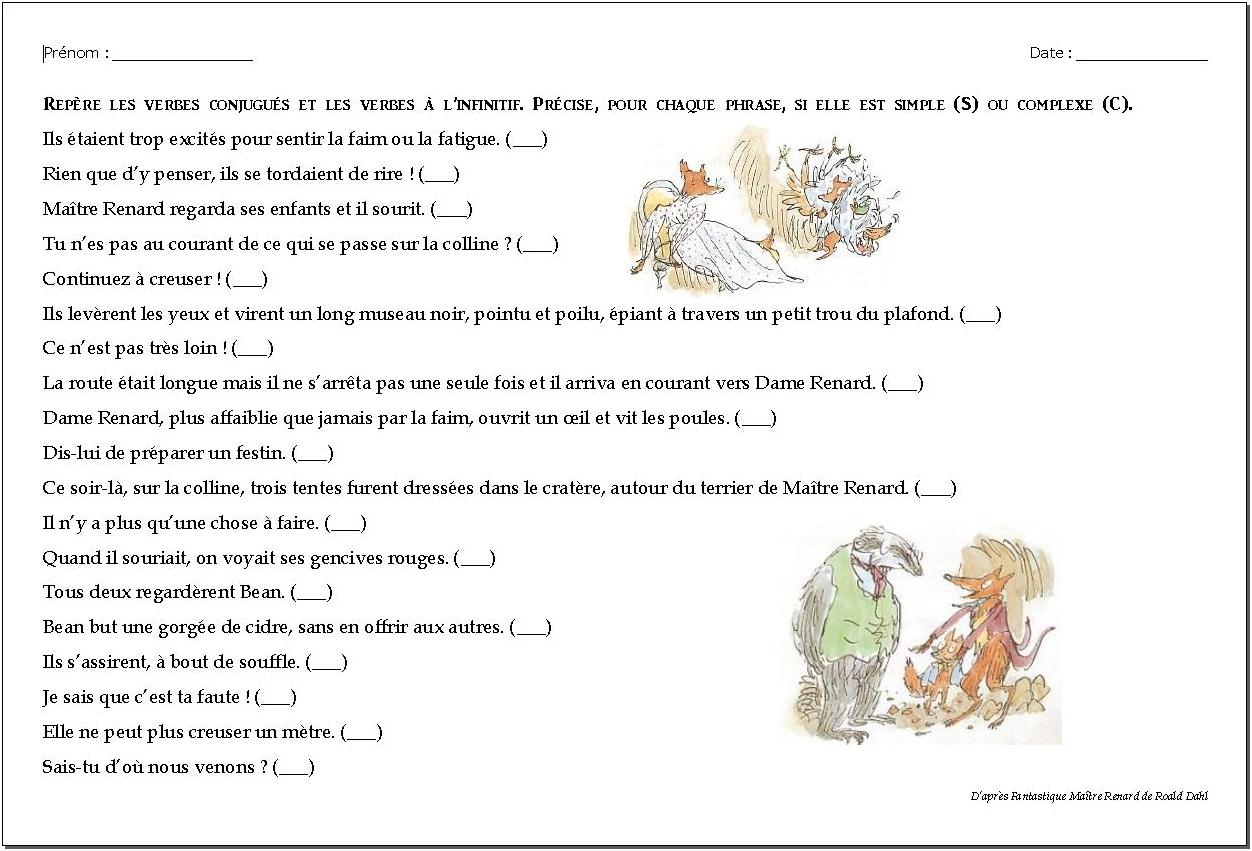 Phrases simples – Phrases complexes CM1/CM2