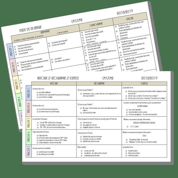 Programmations 2018-2019 CM1/CM2