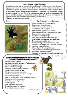 Le Corbeau Et Le Renard Poesie