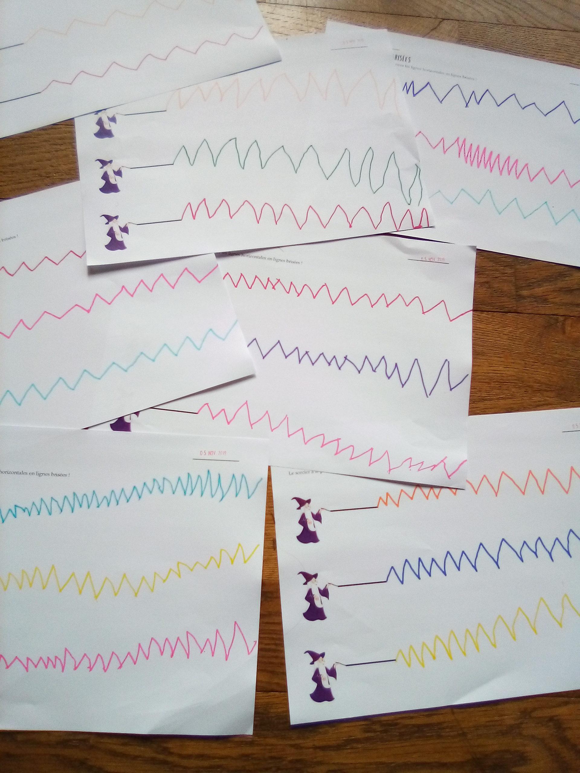 Graphisme – Lignes brisées MS/GS