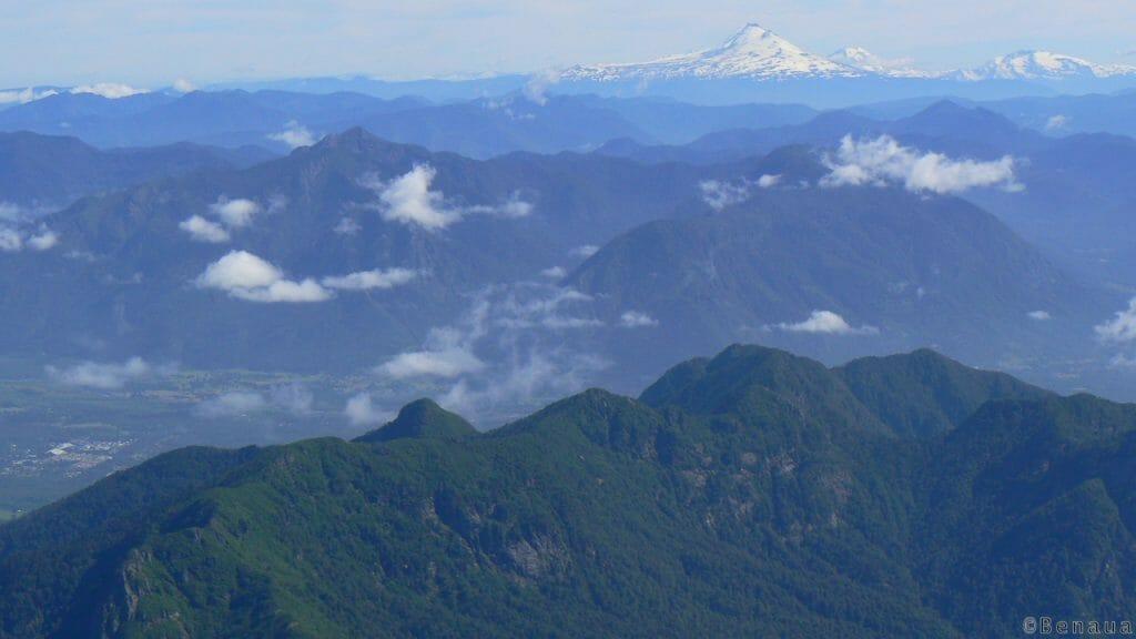 Vue des montagnes du Volcan actif Villarrica