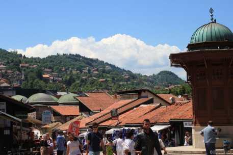 Vue de la ville de Sarajevo en Bosnie Herzégovine