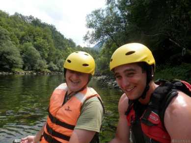 Rafting au Monténégro - Sanel à gauche, le navigateur à droite