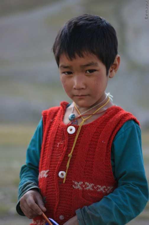 Jeune garçon d'un village perché -Vallée du Zanskar - Inde
