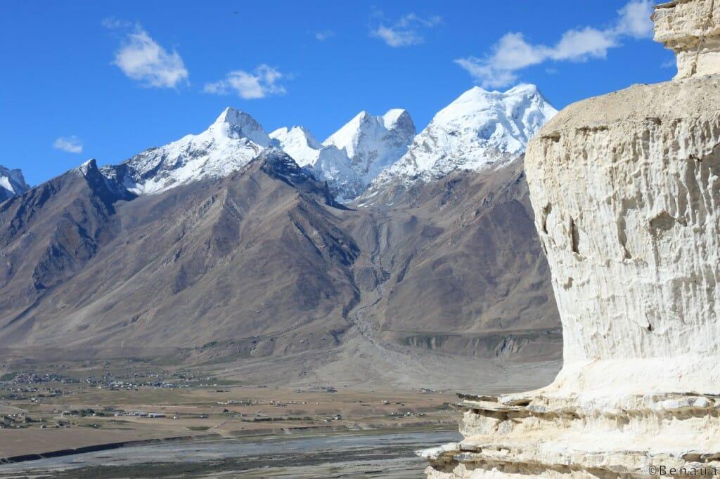 Trek au Zanskar en Himalaya - vue du Mont Blanc de Padum