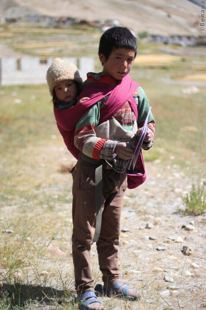 Villages et population Zanskari en Himalaya - Jeunes Enfants - Benoit Richer