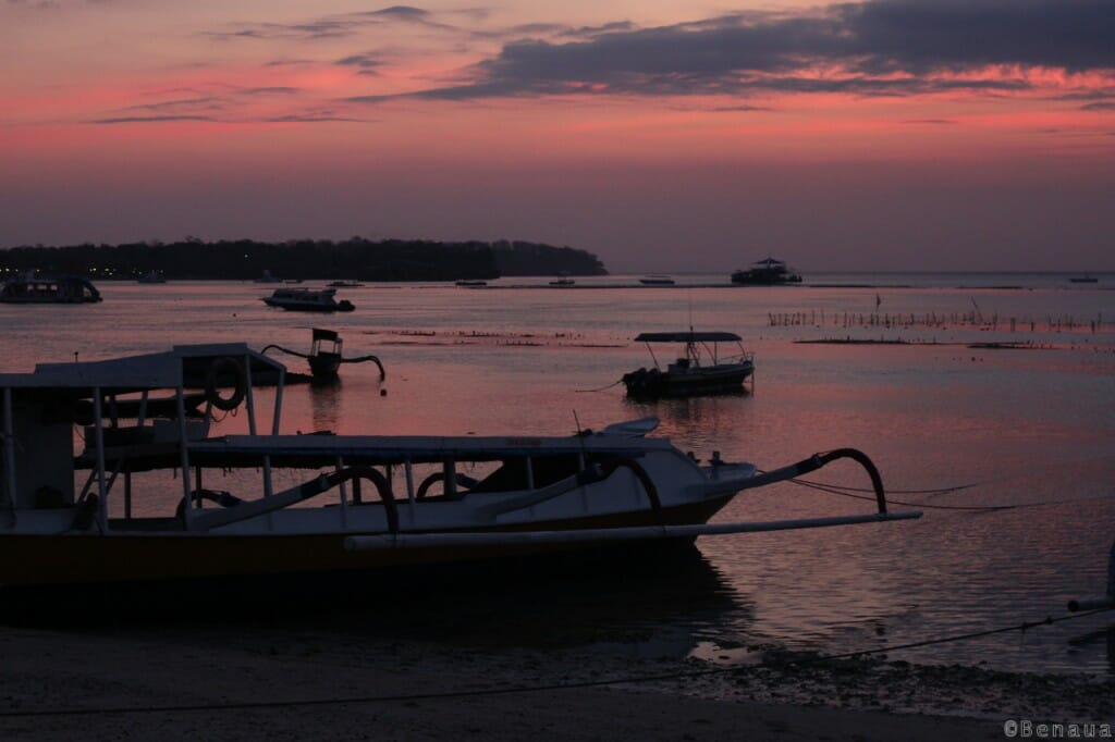 Bali en Indonésie - Coucher de soleil à Nusa Lembongan
