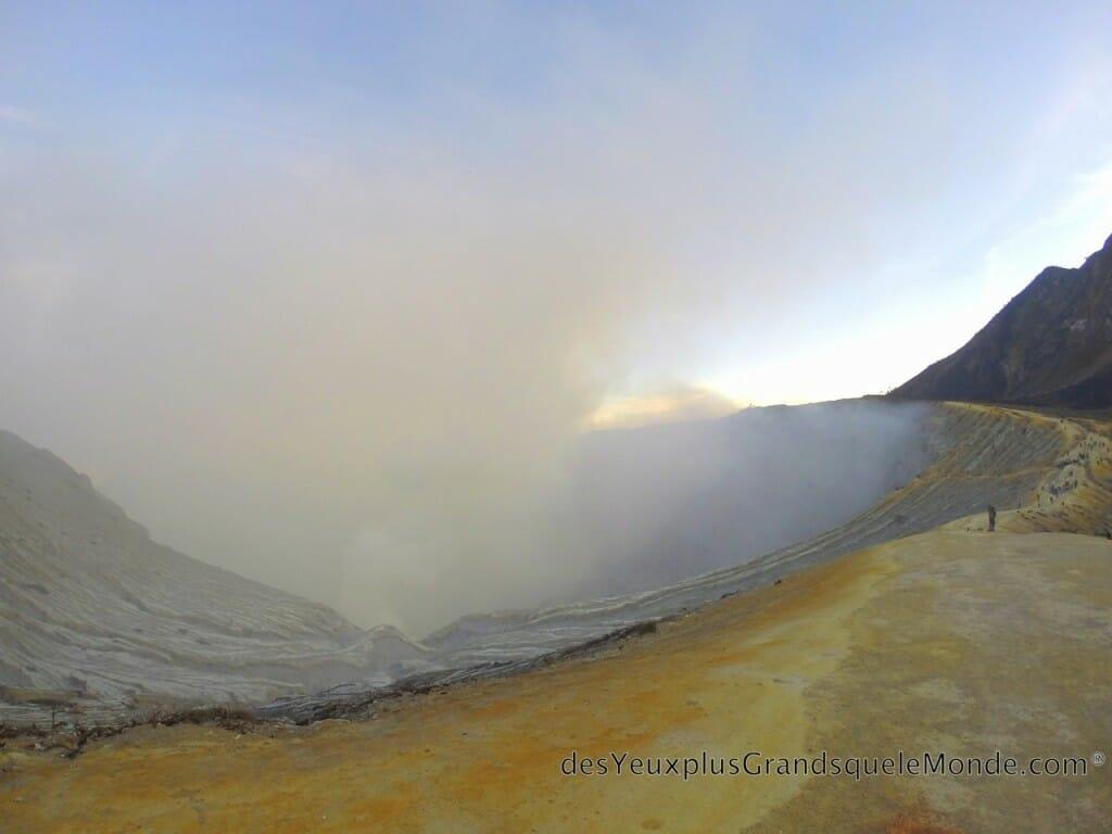 Ascension du Volcan Ijen à Java en Indonésie - Cratère du Ijen