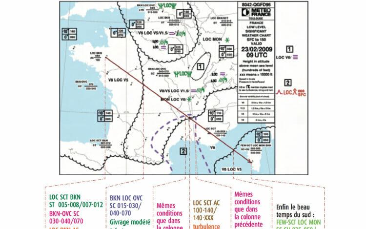 Législation drone en France - partie théorique - carte de météorologie