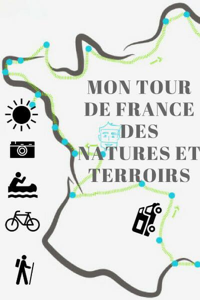 Tous les détails sur le projet, l'itinéraire et les partenaires de mon tour de France des natures et terroirs.