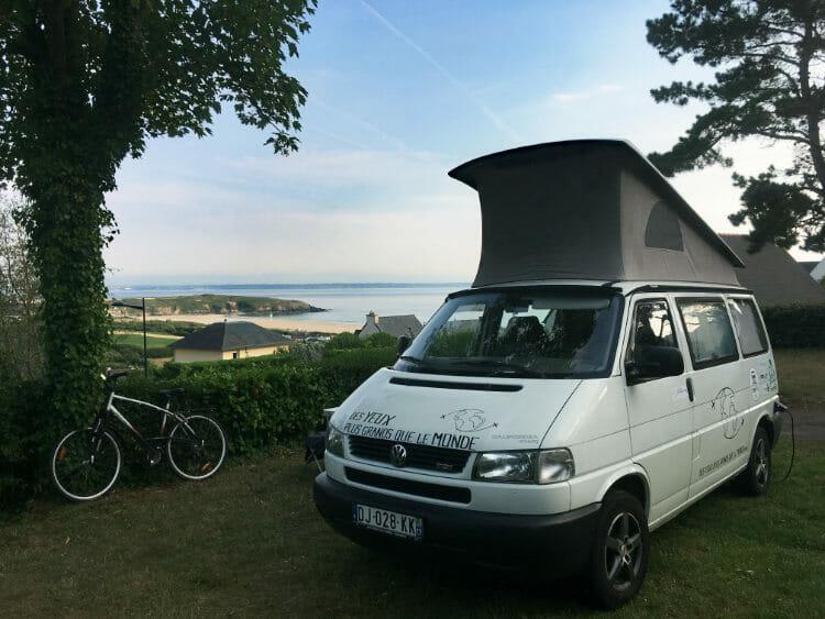 Randonnée autour de la Presqu'Ile de Crozon - Vue de mon emplacement au camping le Panoramic
